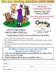 11th annual amity township community yard flyer