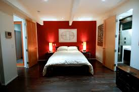 bedroom design red contemporary wood:  bedroom white and red stain wall varnished wood floor tile varnished wood cabinet varnished wood