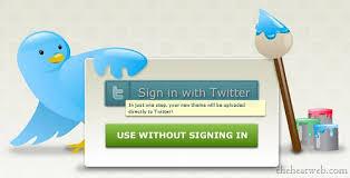 اصنع خلفيه حسابك في تويتر