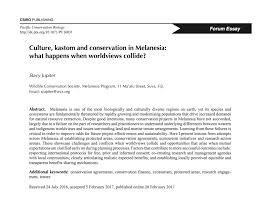 society for conservation biology oceania culture kastom and essay is that conservation interventions that build on customary knowledge and practice while integrating science in a culturally sensitive way