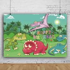 <b>Laeacco Dinosaur Backdrops Photocall</b> Birthday Party Jungle Zoo ...