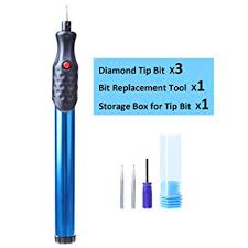 <b>Electric Engraver Pen</b> 3 Diamond Tip Bit Etching Carve Tool <b>Metal</b> ...