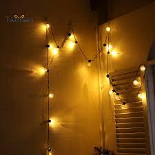 Tworsen <b>6m 20LED</b> Warm White Bulb Shape String Light <b>Christmas</b> ...