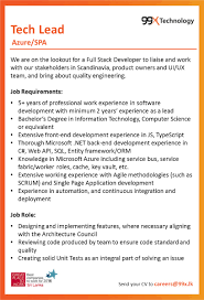 careers tech lead