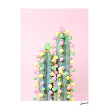 <b>Fashion</b> Fresh <b>Cactus Wall</b> Art Canvas Modern Home Office ...