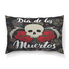 Подушка 60×40 см с полной запечаткой <b>Día</b> de Muertos #2319528 ...