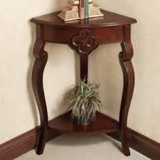home furniture corner table design alternative features wooden varnishing top shelves and base open shelves alluring small home corner