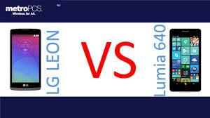 LG Leon VS Microsoft Lumia 640 for metroPCS - YouTube