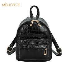 Vintage <b>Crocodile Pattern PU Leather</b> Backpac Mini Backpack ...