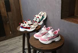 2019 <b>New</b> Spring <b>Kids Shoes Mesh</b> Color Matching <b>Children's</b> ...