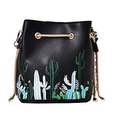 Felice Womens Faux Leather Drawstring <b>Bucket Handbags Cute</b>