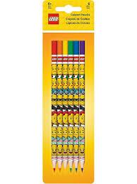 <b>Набор из 6 цветных</b> карандашей. LEGO iconic (смайлик) Lego ...