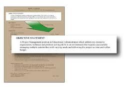 a virtualjobcoach resume objective statments