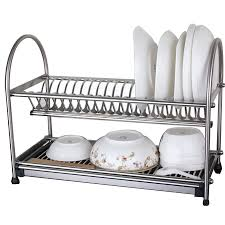 kitchen drainer sus stainless steel dish drainer drying rack cutlery holder dish drain