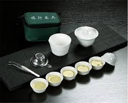 11pcs Set <b>Chinese Travel Kung Fu</b> Tea Set Ceramic Portable ...