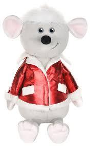Мягкая игрушка <b>Maxitoys</b> Мышонок Виталик в красной куртке 21 см