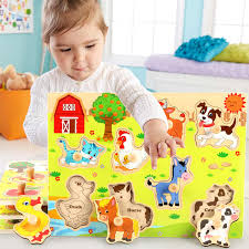 mwz 27pcs cartoon insects wooden building blocks magnetic trains toys for early childhood education model trai