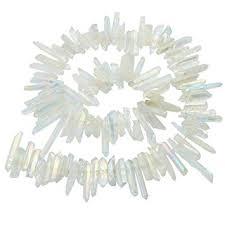 SUNYIK Angel Aura Quartz <b>Titanium Coated Crystal Points</b> Quartz ...