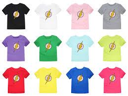 2018 <b>Summer Short Sleeve T Shirt</b> Boys Girls Flash T Shirt Children ...
