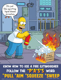 workplace safety posters simpsons safety responsibility s p a s s