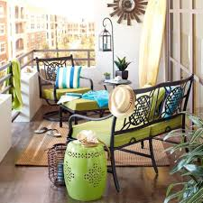 decorating ideas for balcony with metal furniture and garden stools and lantern balcony patio furniture balcony furniture design
