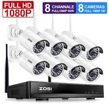 ZOSI <b>1080P Wireless CCTV System</b> 2MP 8CH Powerful NVR IP IR ...