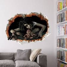 removable halloween party scary 3d