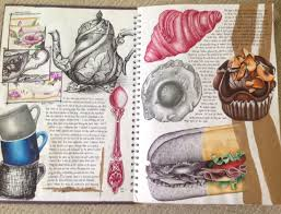best ideas about gcse art sketchbook sketchbook page from tea for two as art sketchbook