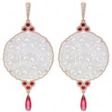 Donald Huber Icy White Jade Disc Rose Gold Earrings | <b>украшения</b> ...