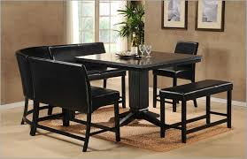 dining room tables chairs square:  chairs dining room black kitchen table set square table and fur rug lovely black dining room