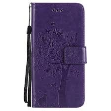 Tree Embossing <b>Flip Case</b> with Stand Card Holder Premium <b>PU</b> ...
