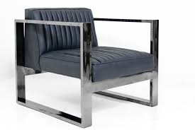 kube chair in black chrome and charcoal faux leather black and chrome furniture