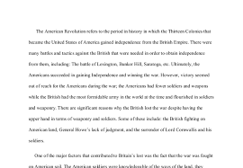 why the british lost the revolutionary war   international  document image preview