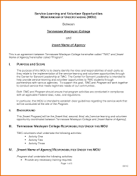 memorandum of understanding template assistant cover letter 7 memorandum of understanding template