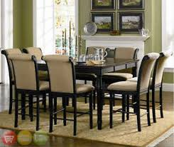 counter height dining room set cappuccino image is loading two tone counter height table  piece dining