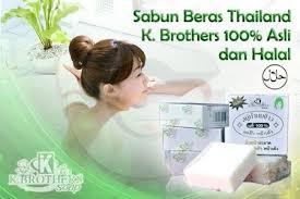 Hasil gambar untuk New Packaging Sabun Beras Susu Thailand K-brothers. Original