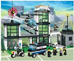 Hwealth City Police Station Building Blocks 3D Model ... - Amazon.com