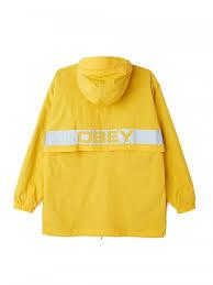 <b>Куртка</b>-анорак <b>OBEY</b> Inlet Anorak Energy Yellow — купить в ...