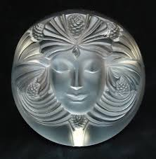 LALIQUE <b>CRYSTAL</b> PAPERWEIGHT. Art <b>Deco</b> style of a woman's ...