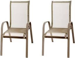 FineHome Set of <b>2</b> XL <b>Garden Chairs Stackable Garden Chairs</b> ...