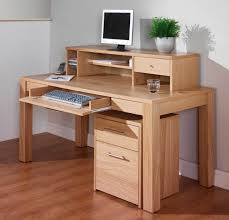 cheap office desk charming blonde natural wood red best home office desk oak made on built simple office added some storage and slide keyboard space with cheap office storage