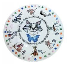 <b>Набор из 4 тарелок</b> Gift'n'home Кошки-мышки, 20 см — купить в ...