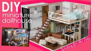 DIY Miniature <b>Dollhouse</b> FULL Set - Bedroom, Kitchen, Living Room ...