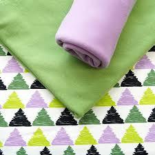 Set <b>1m</b> Triangle flieder-grün with 0,5m Unijersey kiwi - Fabrics made