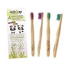 Bamboo Toothbrush for kids | 4 Pack Biodegradable ... - Amazon.com