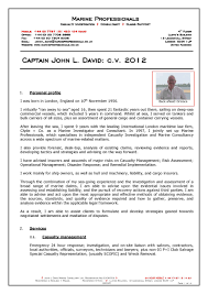 c v captain john l david marine professionals london cv captain john l david page 1