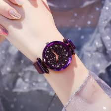 Luxury <b>Women Watches Ladies</b> Magnetic Starry Sky Clock <b>Fashion</b> ...