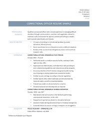 correctional officer resume samples and tips correction officer resume sample