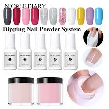 <b>NICOLE DIARY 10ml Dipping</b> System Powder Gradient French Nail ...
