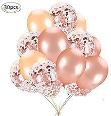 <b>Rose Gold</b> Balloons <b>Set</b>, Muyee <b>30pcs</b> Party Balloons <b>12 Inch</b> Rose ...